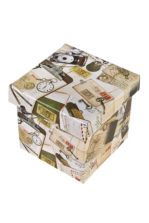 Коробка подарочная Вчерашний деньКвадратные подарочные коробки<br>26*26*26см, бум.<br>