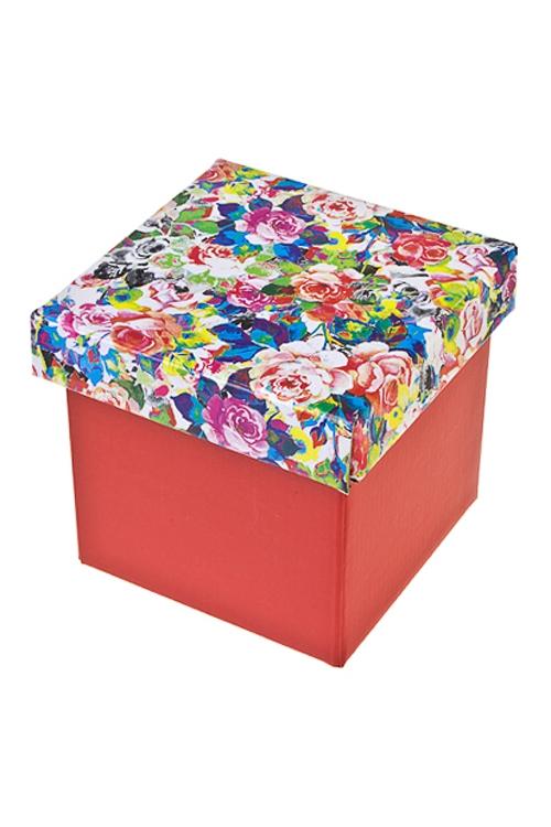 Коробка подарочная Пестрые розыСувениры и упаковка<br>26*26*26см, бум.<br>