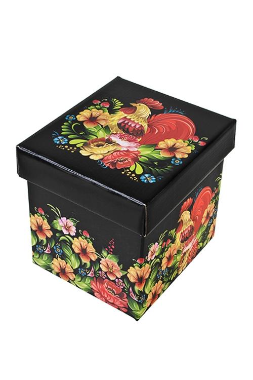 Коробка подарочная Сказочный петухСувениры и упаковка<br>26*26*26см, бум.<br>