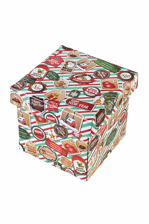 Коробка подарочная новогодняя ПечатиСувениры и упаковка<br>26*26*26см, бум.<br>