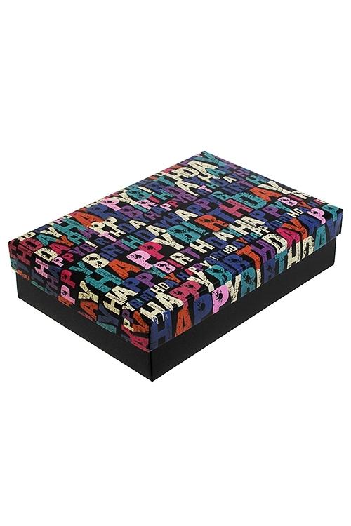 Коробка подарочная Яркое поздравлениеУзкие подарочные коробки<br>18.5*12.5*4.8см, бум.<br>