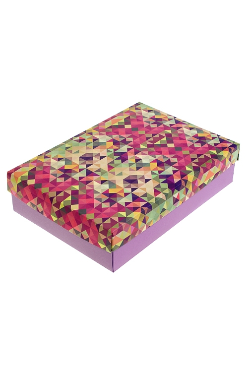 Коробка подарочная КалейдоскопУзкие подарочные коробки<br>27*20.5*6.8см, бум.<br>