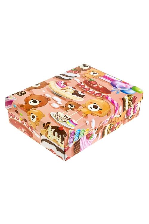 Коробка подарочная СладкоежкаУзкие подарочные коробки<br>27*20.5*6.8см, бум.<br>