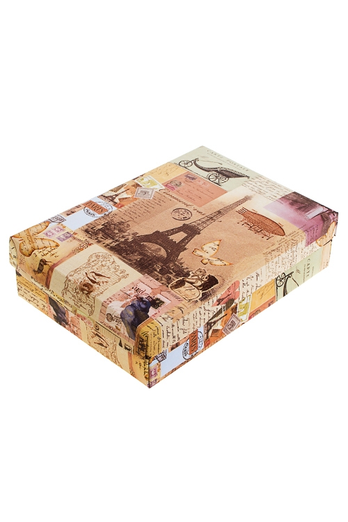Коробка подарочная ПарижСувениры и упаковка<br>32*24*7.6см, бум.<br>