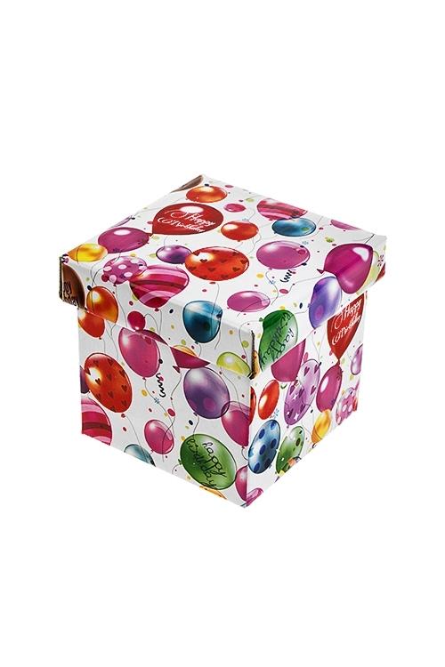 Коробка подарочная Воздушное поздравлениеКвадратные подарочные коробки<br>11*11*11см, бум.<br>