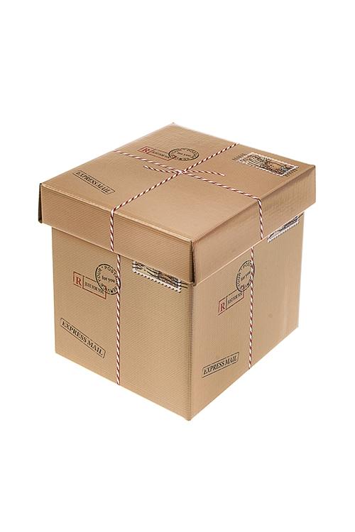 Коробка подарочная Посылка с сюрпризомСувениры и упаковка<br>17*15*16.8см, бум.<br>