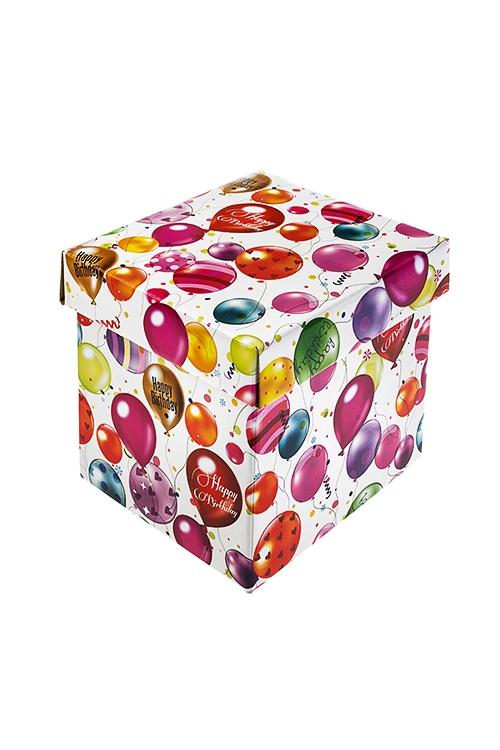 Коробка подарочная Воздушное поздравлениеСувениры и упаковка<br>17*15*16.8см, бум.<br>