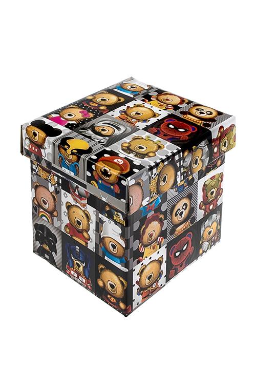 Коробка подарочная Супер-мишкаСувениры и упаковка<br>21.5*21.5*21.5см, бум.<br>