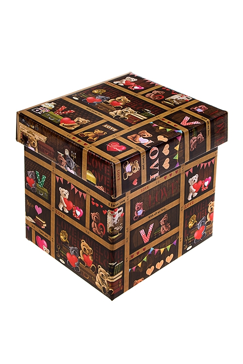 Коробка подарочная С любовьюСувениры и упаковка<br>21.5*21.5*21.5см, бум.<br>