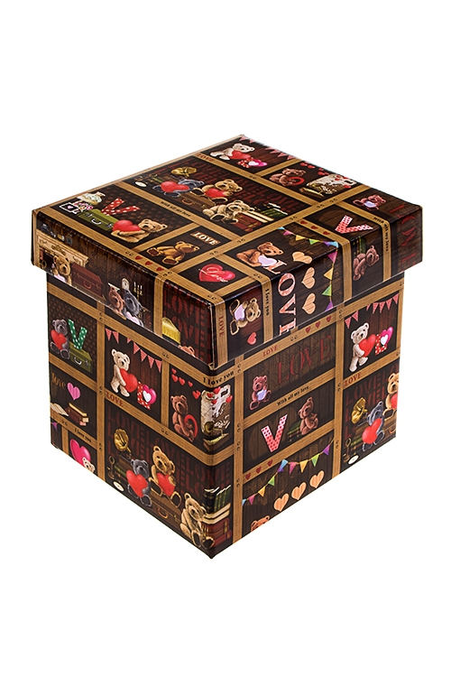 Коробка подарочная С любовьюСувениры и упаковка<br>26*26*26см, бум.<br>