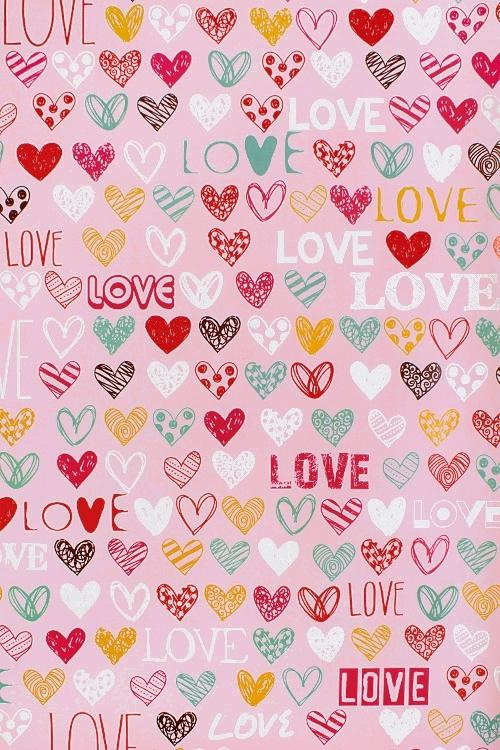 Бумага упаковочная Цветные сердцаУпаковочная бумага<br>70*100см<br>