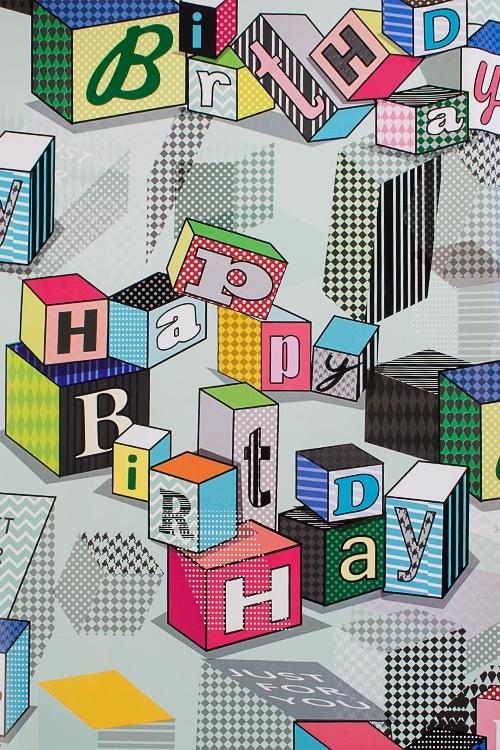 Бумага упаковочная Поздравительные кубикиСувениры и упаковка<br>70*100см<br>
