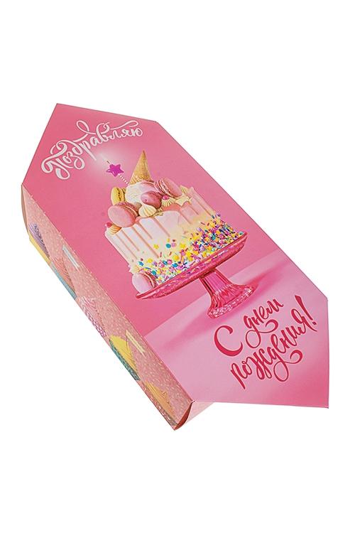 """Коробка-конфета подарочная """"Поздравляю с Днем Рождения"""""""