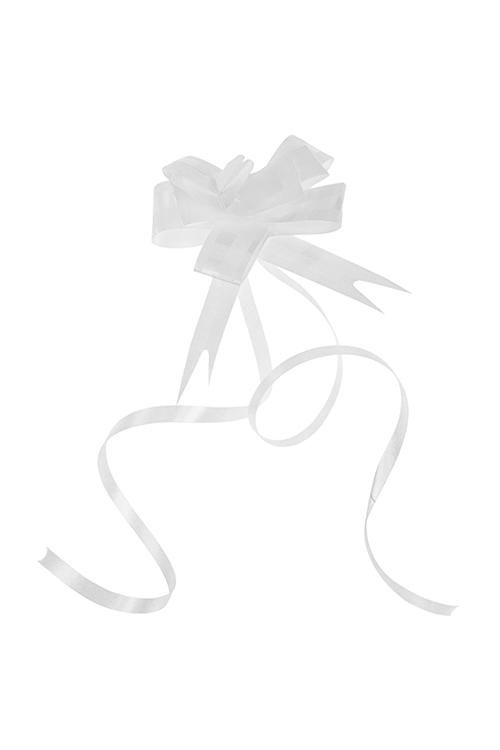 Набор бантов упаковочных БабочкаСувениры и упаковка<br>10-предм, Д=3.5см, полипропилен, белый<br>