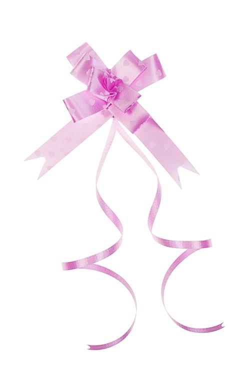 Набор бантов упаковочных БабочкаСувениры и упаковка<br>10-предм, Д=4см, полипропилен, розовый<br>