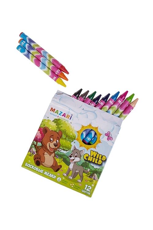 Набор карандашей восковых