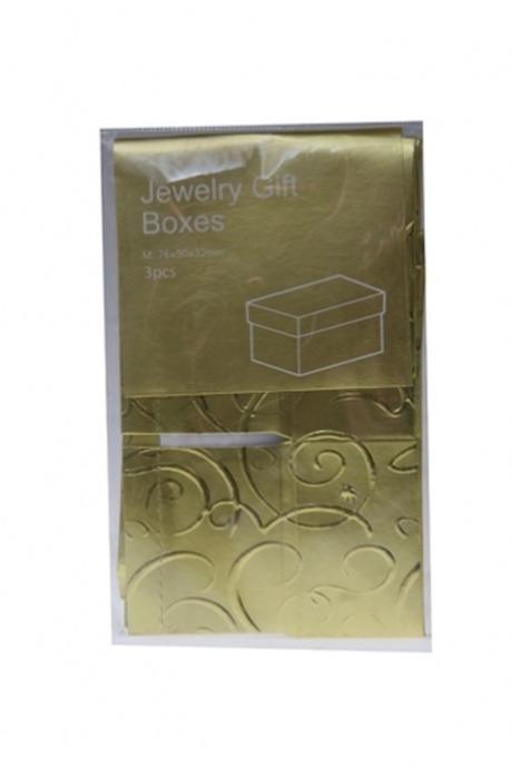 Коробка подарочная 7.6*5*3.2 Мини-классикаУзкие подарочные коробки<br>7.6*5*3.2см, бум. золот.. Сделай подарок своему мужчине на 23 февраля!<br>