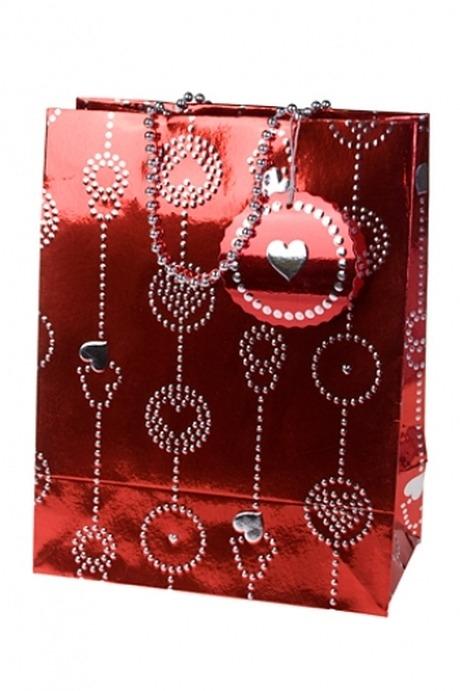 """Пакет подарочный """"Гирлянда из сердец"""" от Красный куб"""