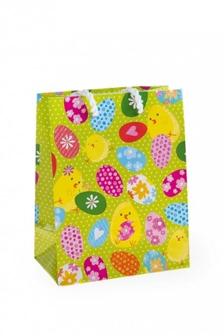 Пакет подарочный пасхальный Забавные цыплятаСувениры и упаковка<br>11.4*6.4*14.6см, бум., с декором<br>