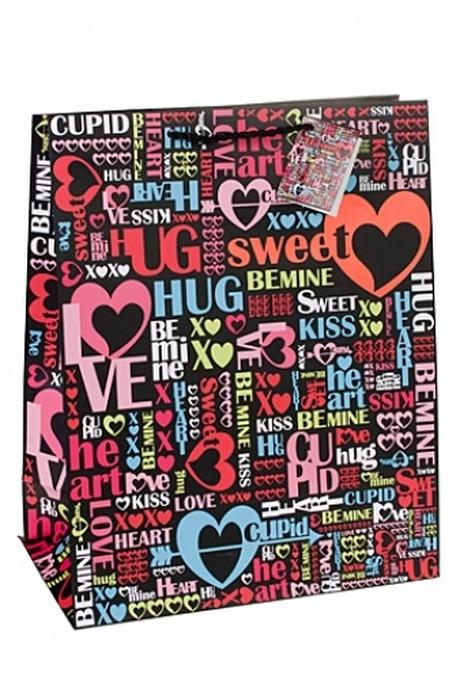 Пакет подарочный Резвость чувствПакеты про Любовь<br>26.4*13.6*32.7см, бум., с декором.<br>