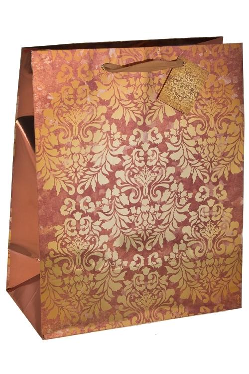 Пакет подарочный Золотой узорПодарочные пакеты<br>32.4*10.2*44.5см, бум., глянцевый<br>