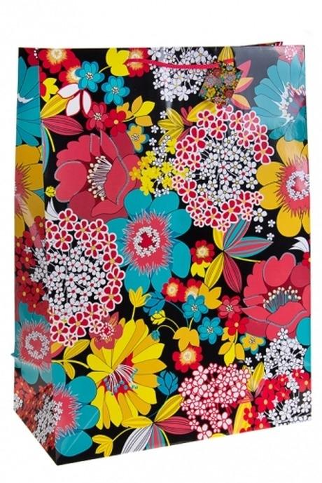 Пакет подарочный Полевые цветыСувениры и упаковка<br>40.6*20.3*55.8см, бум.<br>