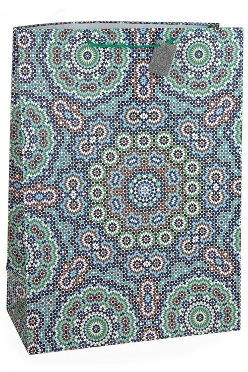 Пакет подарочный Арабский узорСувениры и упаковка<br>40.6*20.3*55.8см, бум., матовый<br>