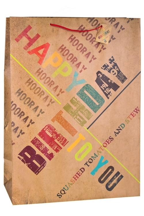 Пакет подарочный ПоздравленияСувениры и упаковка<br>40.6*20.3*55.8см, бум., матовый<br>
