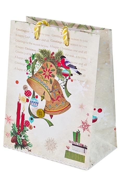 Пакет подарочный новогодний Волшебный звонСувениры и упаковка<br>11.4*6.4*14.6см бум.<br>