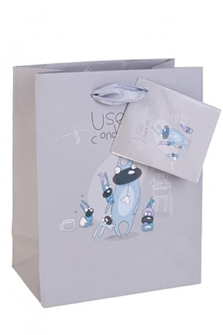 Пакет подарочный Большая семьяПакеты на любой повод<br>11.4*6.4*14.6см, бум.<br>