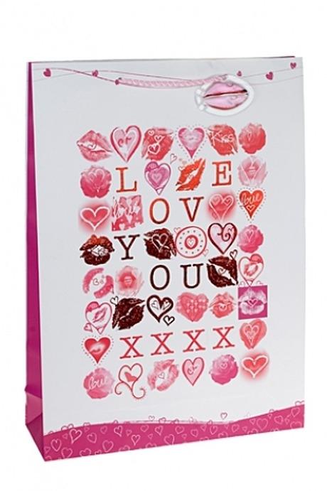 Пакет подарочный Лабиринт любвиСувениры и упаковка<br>32.4*10.2*44.5см, бум., с декором.<br>