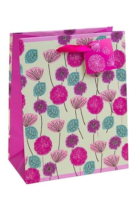Пакет подарочный Цветочное полеПакеты на любой повод<br>11.4*6.4*14.6см, бум., с декором<br>