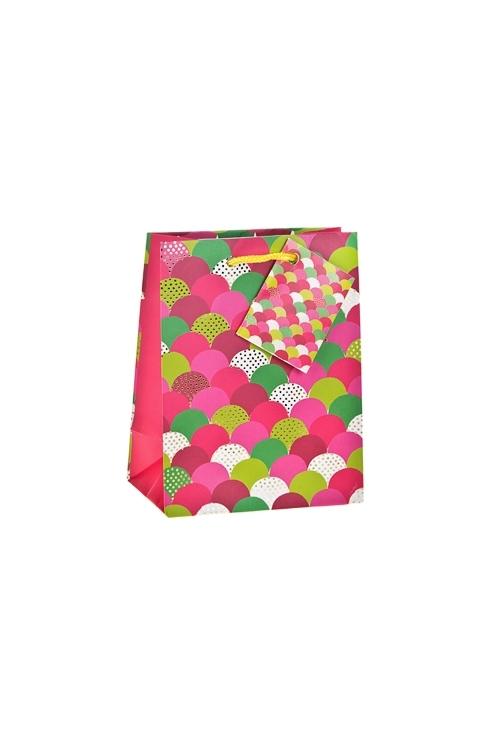Пакет подарочный Яркая чешуяПакеты на любой повод<br>11.4*6.4*14.6см, бум., матовый, с гор. тиснением<br>