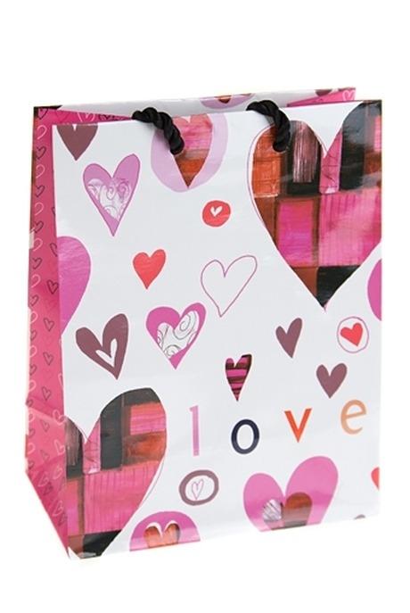 """Пакет подарочный """"Пестрые сердца"""" от Красный куб"""