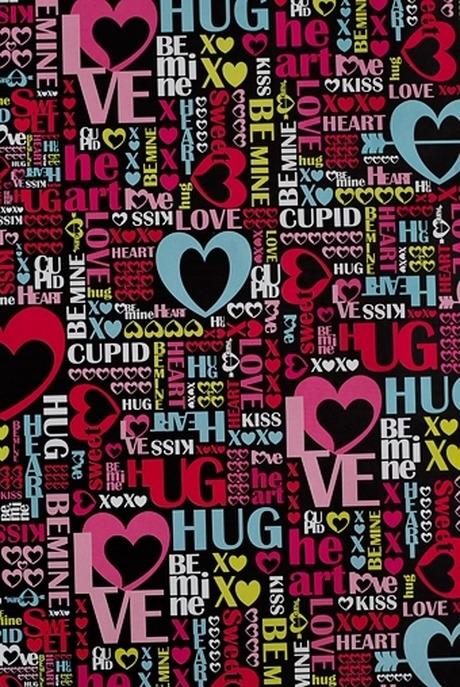 Бумага упаковочная Слова любвиСувениры и упаковка<br>70*100см, цена указана за  1 шт., минимальный заказ - 5 шт.<br>