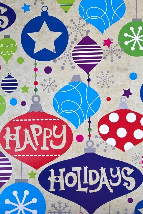 Бумага упаковочная новогодняя Игрушки на елкуСувениры и упаковка<br>70*100см<br>