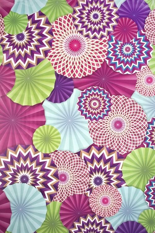Бумага упаковочная Цветочный салютСувениры и упаковка<br>70*100см<br>