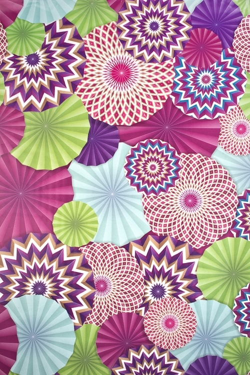 Бумага упаковочная Цветочный салютУпаковочная бумага<br>70*100см<br>