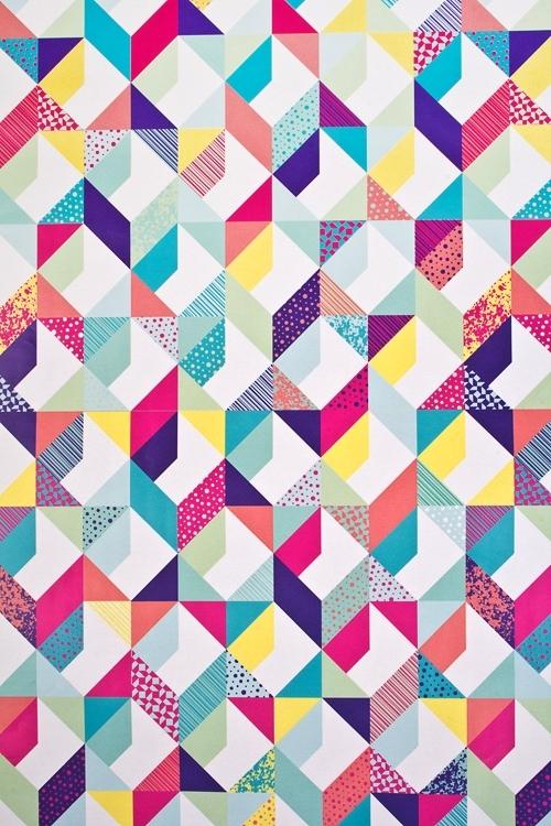 Бумага упаковочная Красочная геометрияСувениры и упаковка<br>70*100см<br>