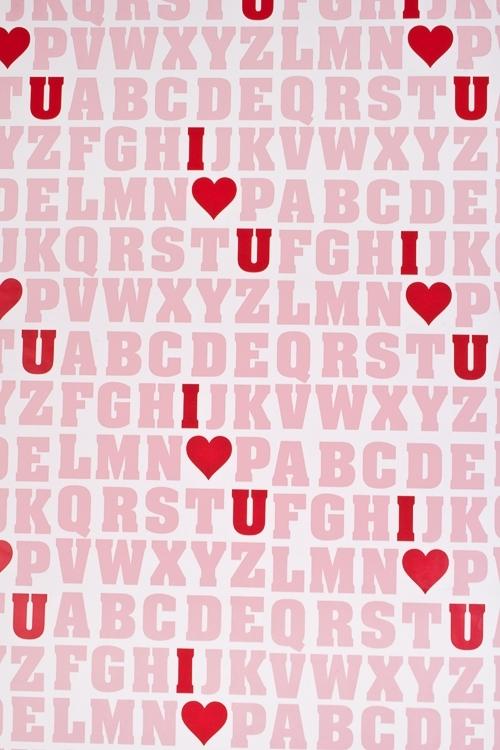 Бумага упаковочная Азбука любвиСувениры и упаковка<br>70*100см<br>
