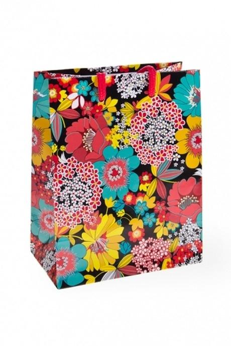 Пакет подарочный Полевые цветыПакеты на любой повод<br>11.4*6.4*14.6см, бум.<br>