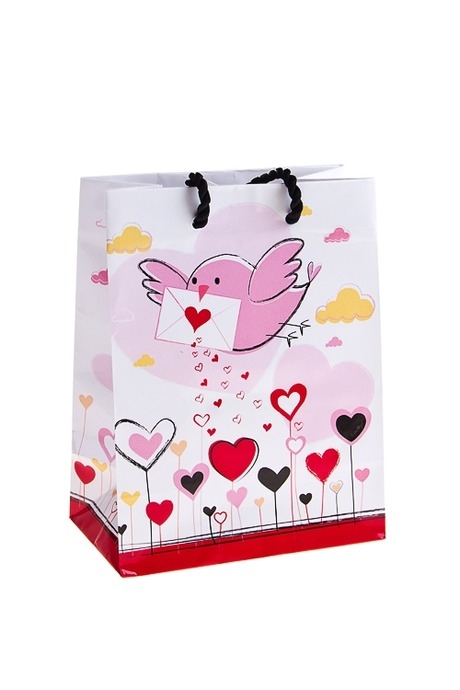 Пакет подарочный Письмо счастьяПакеты про Любовь<br>11.4*6.4*14.6см, бум.<br>