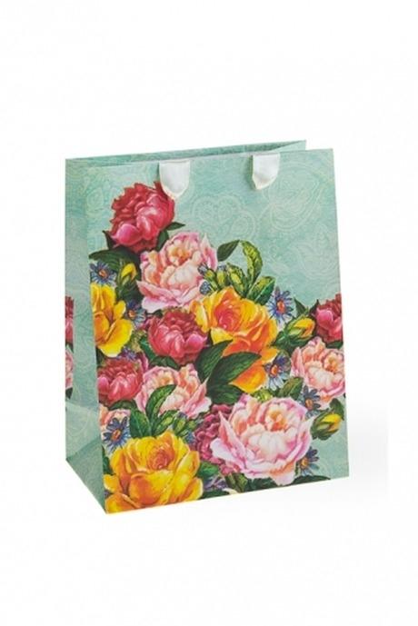 Пакет подарочный Бархатные розыСувениры и упаковка<br>11.4*6.4*14.6см, бум.<br>