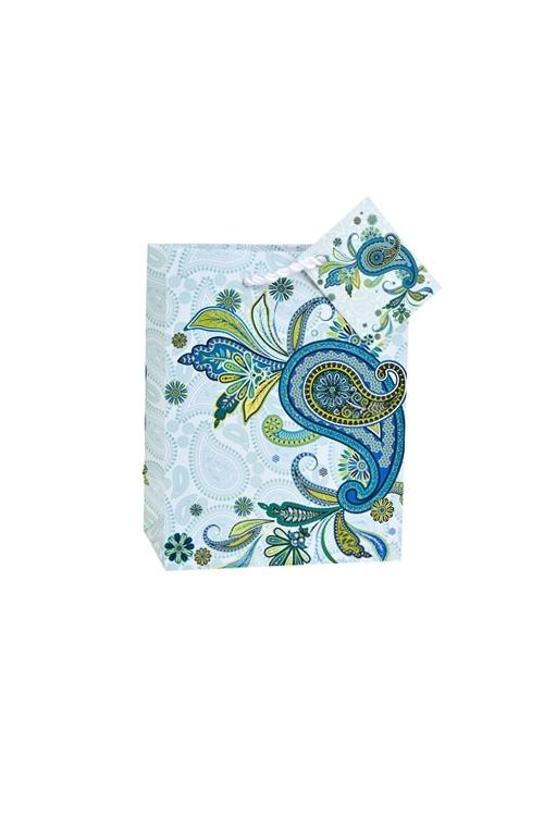 Пакет подарочный Восточный орнаментПакеты на любой повод<br>11.4*6.4*14.6см, бум., матовый, с декором<br>