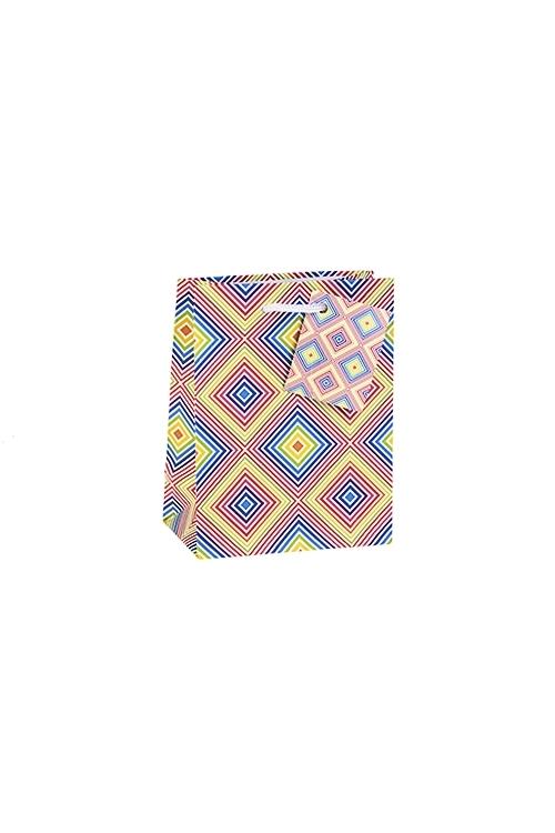Пакет подарочный Танцующий узорПакеты на любой повод<br>11.4*6.4*14.6см, бум., матовый, с декором<br>