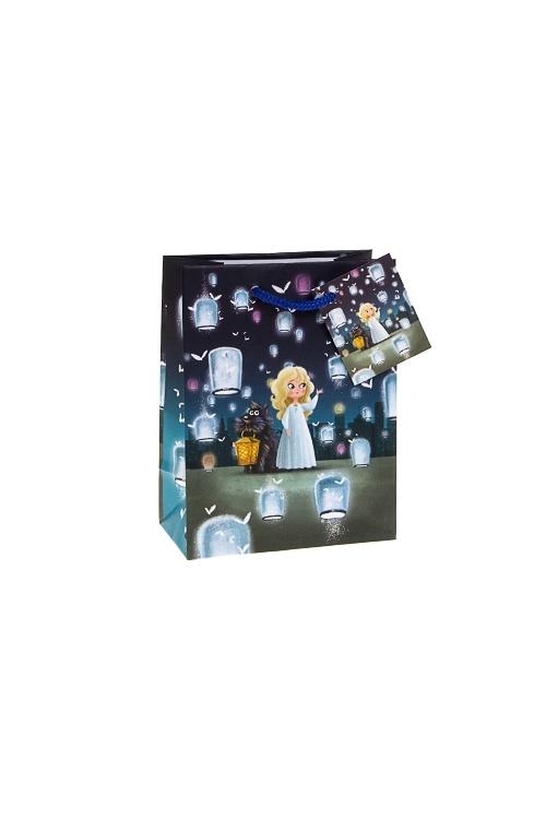 Пакет подарочный Волшебные друзьяПакеты на любой повод<br>11.4*6.4*14.6см, бум., с декором<br>