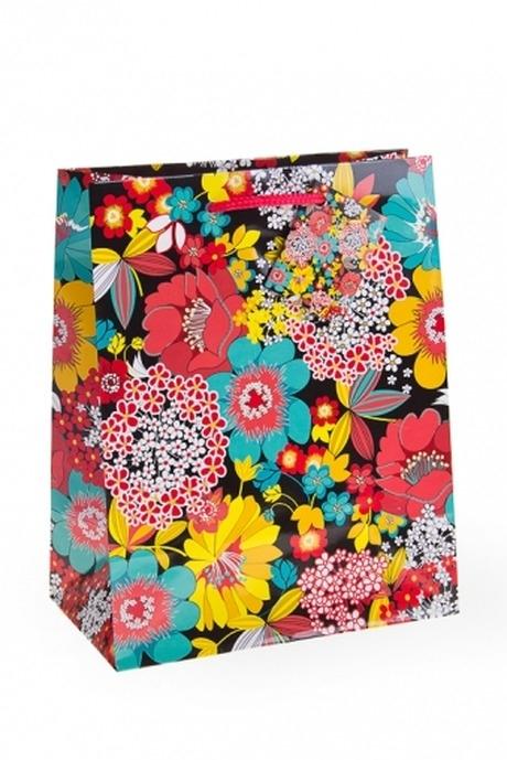 Пакет подарочный Полевые цветыСувениры и упаковка<br>18*10*22.7см, бум.<br>