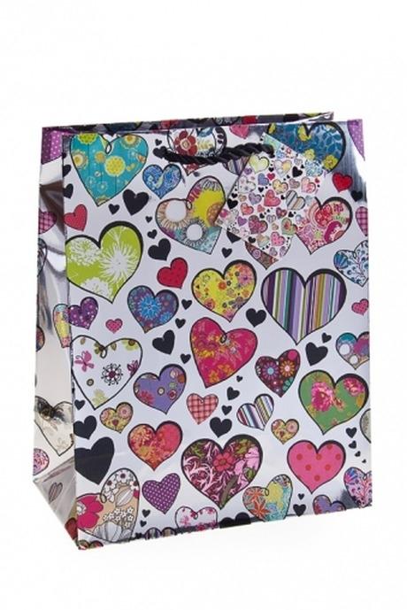 Пакет подарочный Любовный шикСувениры и упаковка<br>18*10*22.7см, бум., глянцевый<br>