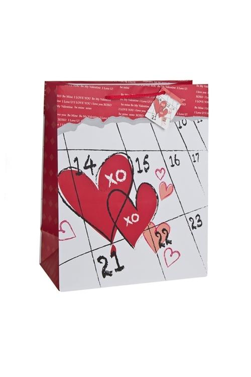 Пакет подарочный День Св.ВалентинаПакеты про Любовь<br>18*10*22.7см, бум., матовый<br>