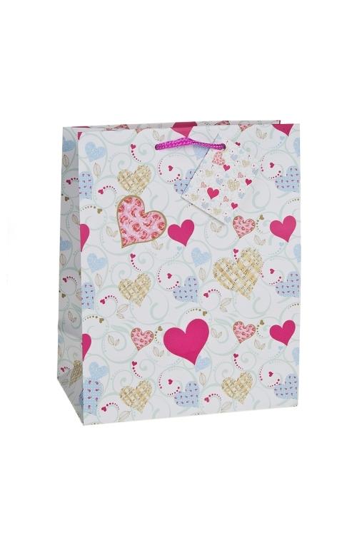 Пакет подарочный Музыка любвиСувениры и упаковка<br>18*10*22.7см, бум., матовый<br>